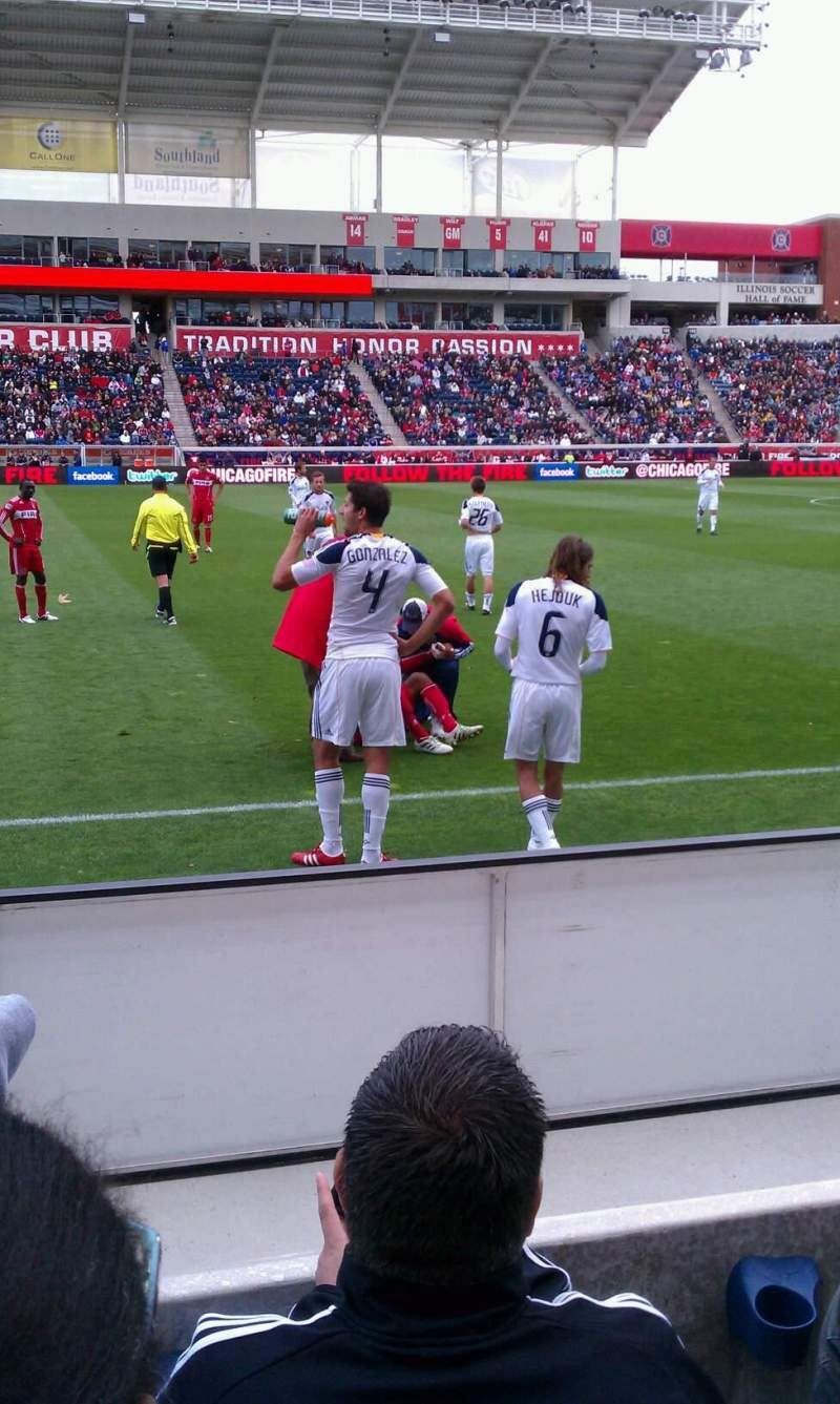 Seating view for Toyota Park Section 106 Row 3 Seat 21