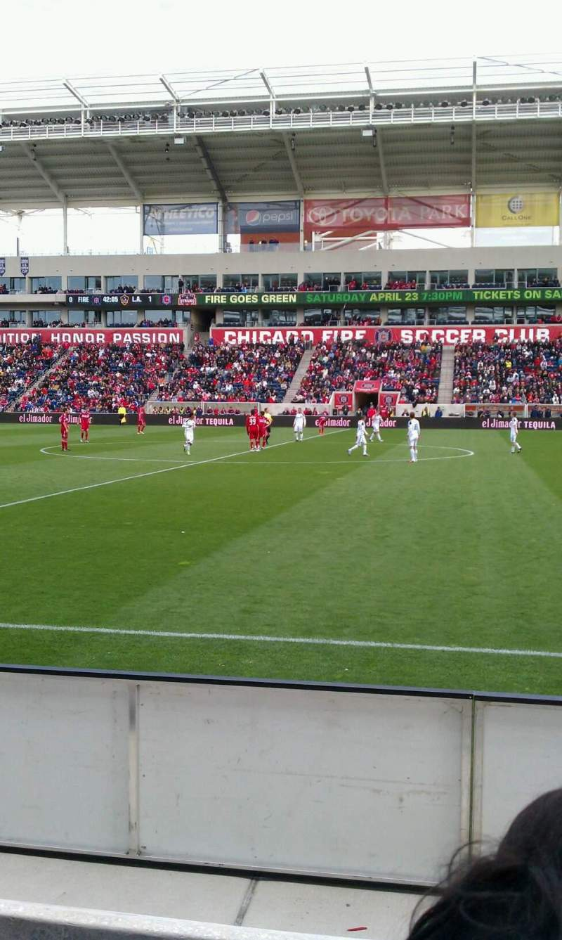 Seating view for Toyota Park Section 106 Row 3 Seat 20