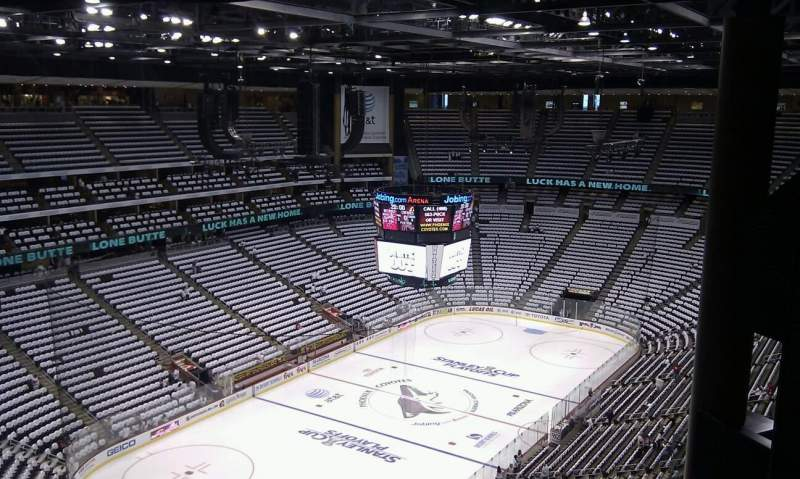 Seating view for Gila River Arena Section 220 Row H Seat 1