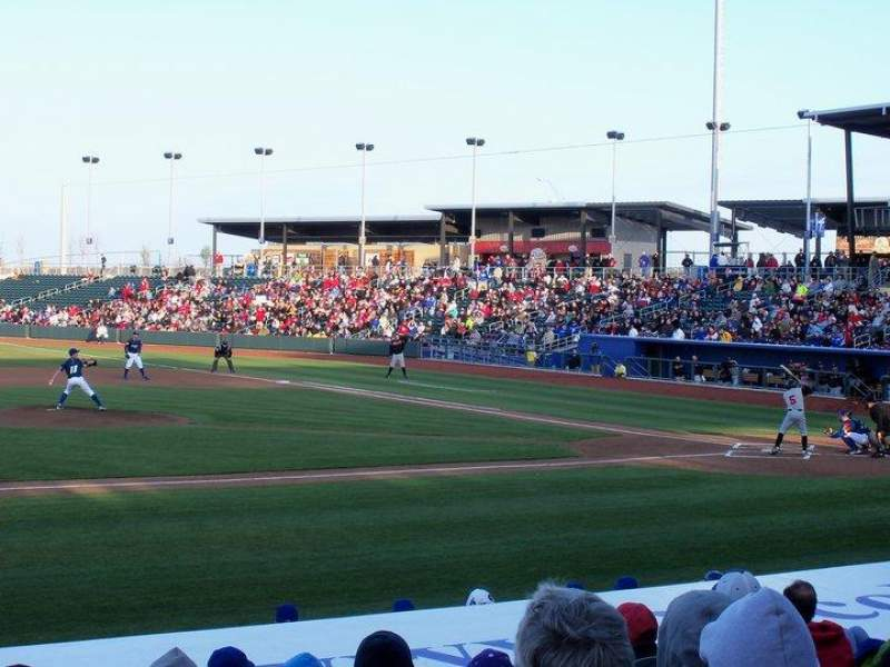 Seating view for Werner Park Section 118 Row 14 Seat 9