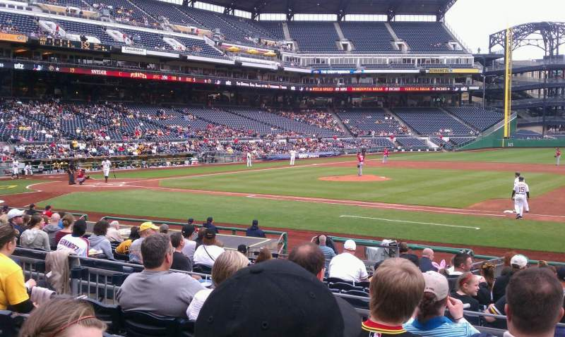 Seating view for PNC Park Section 109 Row e Seat 3