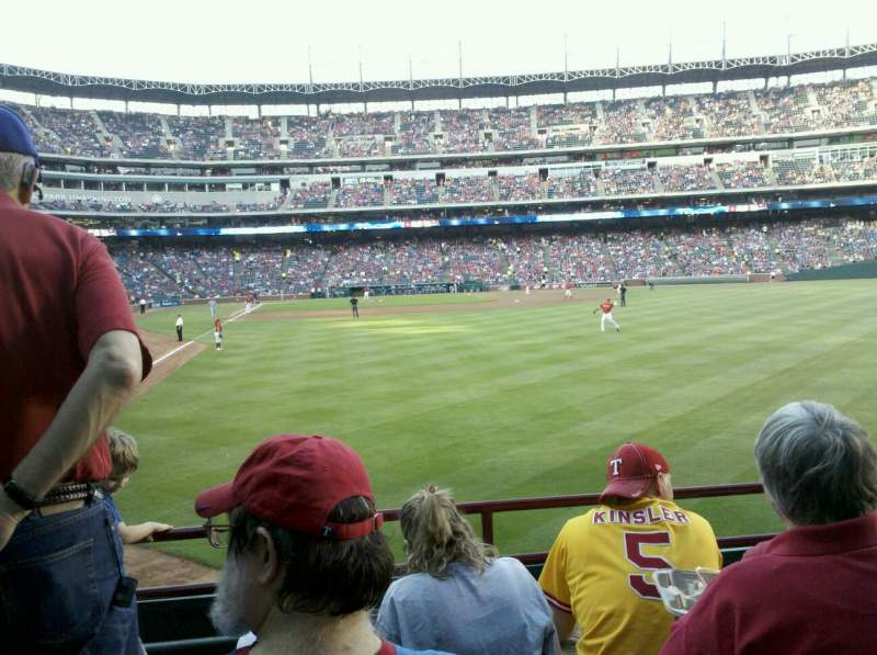 Seating view for Globe Life Park in Arlington Section 44 Row 4 Seat 17
