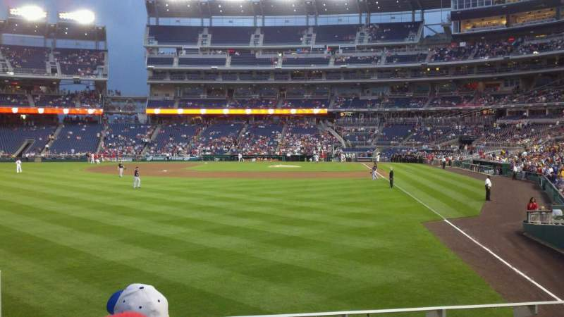 Seating view for Nationals Park Section 106 Row D Seat 16