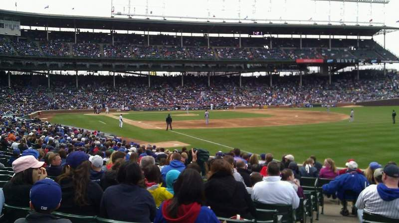 Seating view for Wrigley Field Section 139 Row 10 Seat 1