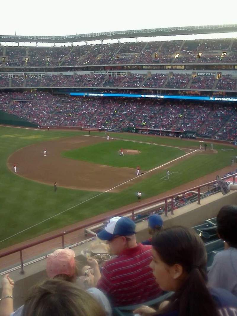 Seating view for Globe Life Park in Arlington Section 214 Row 4 Seat 1