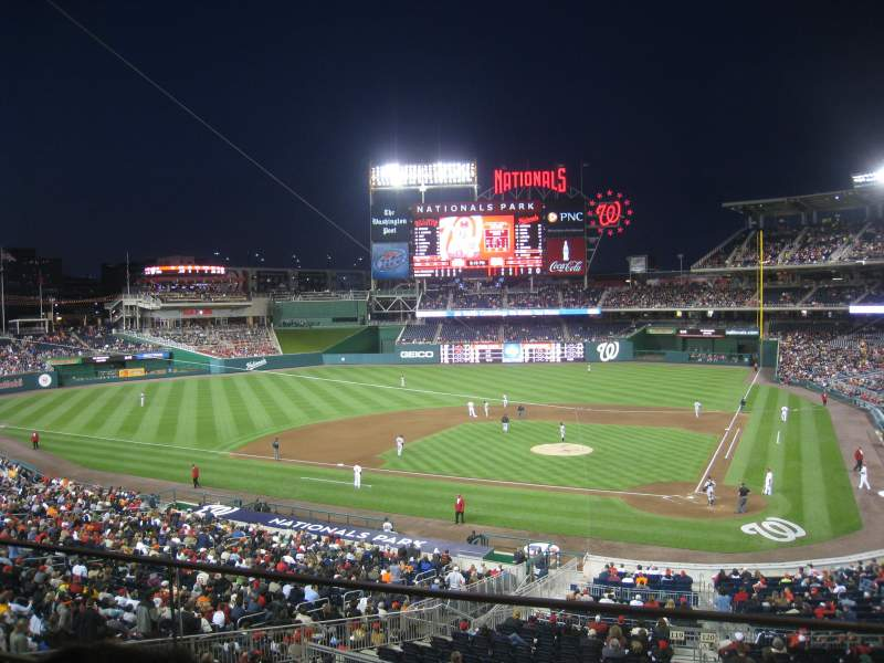 Seating view for Nationals Park Section 210 Row B Seat 1