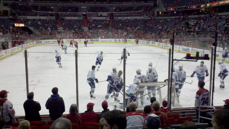 Seating view for Verizon Center Section 105 Row K Seat 6