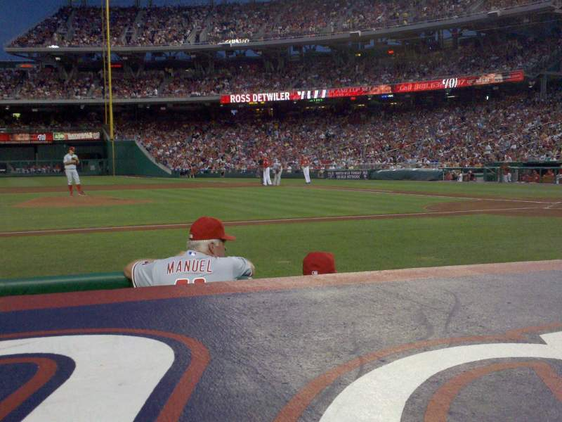 Seating view for Nationals Park Section 117 Row D Seat 18