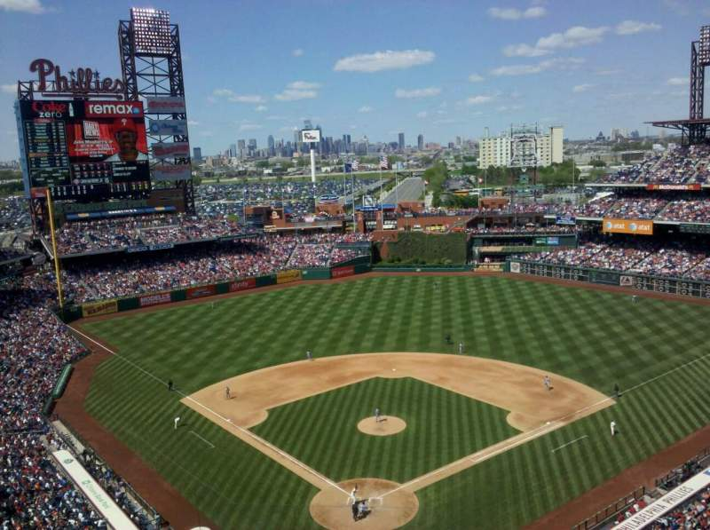 Seating view for Citizens Bank Park Section 420 Row 8 Seat 9
