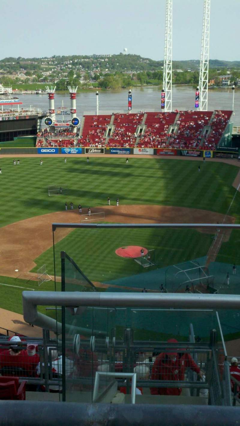 Seating view for Great American Ball Park Section 522 Row E Seat 2