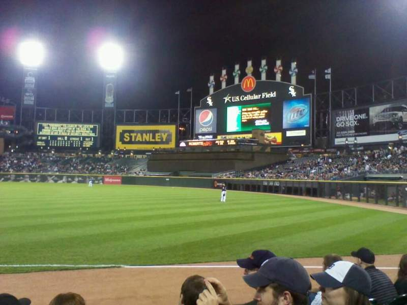 Seating view for Guaranteed Rate Field Section 114 Row 4 Seat 3