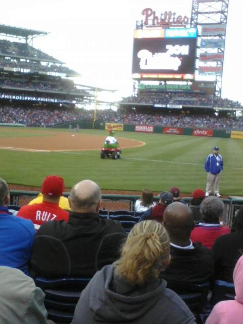 Seating view for Citizens Bank Park Section 113 Row 9 Seat 4