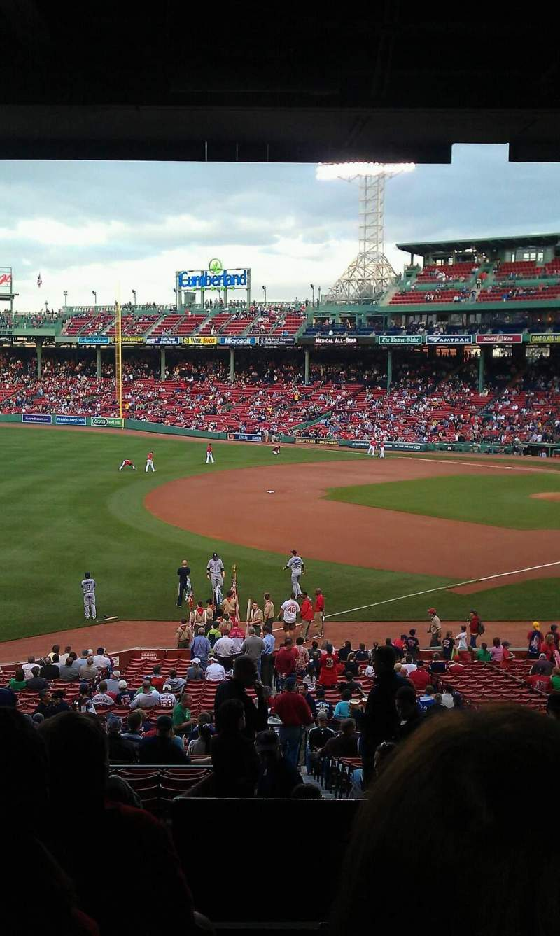 Seating view for Fenway Park Section Grandstand 32 Row 12 Seat 4