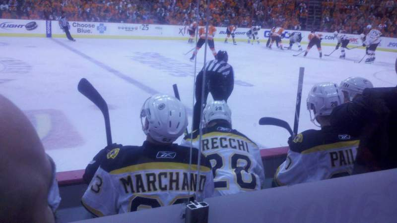 Seating view for Wells Fargo Center Section 102 Row 4 Seat 15