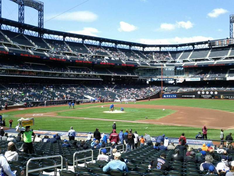 Seating view for Citi Field Section 112 Row 22 Seat 7