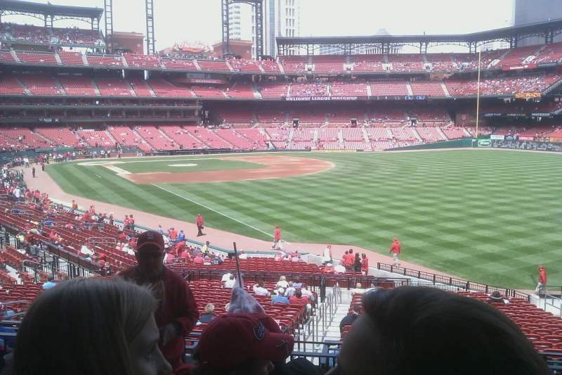 Seating view for Busch Stadium Section 132 Row 8 Seat 16