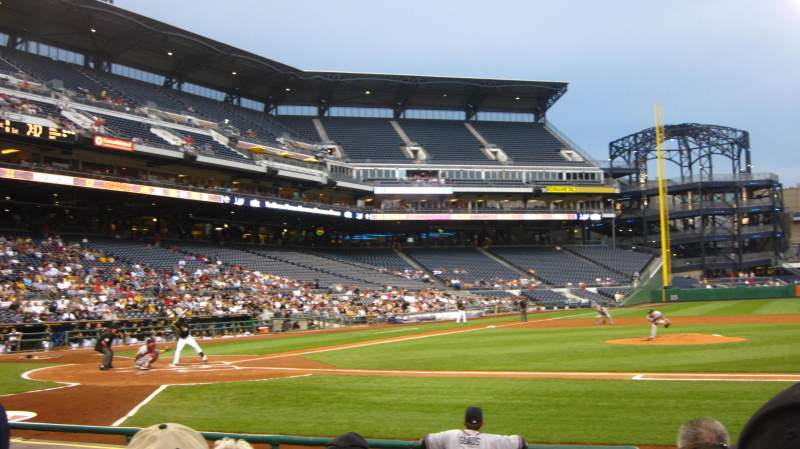 Seating view for PNC Park Section 11 Row K Seat 7