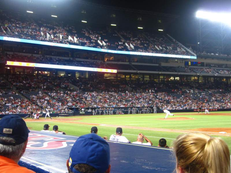 Seating view for Turner Field Section 115R Row 7 Seat 6