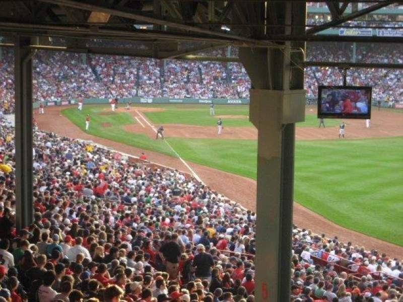 Seating view for Fenway Park Section Stnd Room GA Row 04 Seat 168