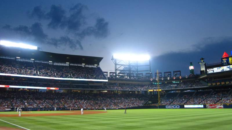 Seating view for Turner Field Section 125L Row 7 Seat 103