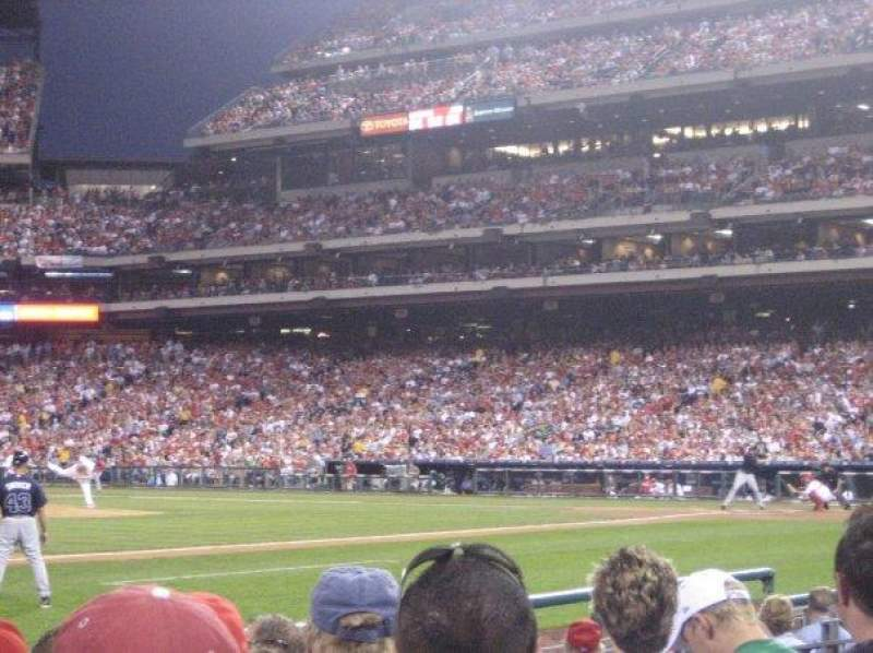 Seating view for Citizens Bank Park Section 133 Row 8 Seat 10