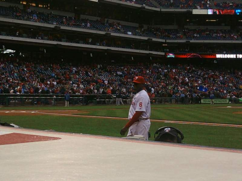 Seating view for Citizens Bank Park Section 116 Row 1 Seat 1