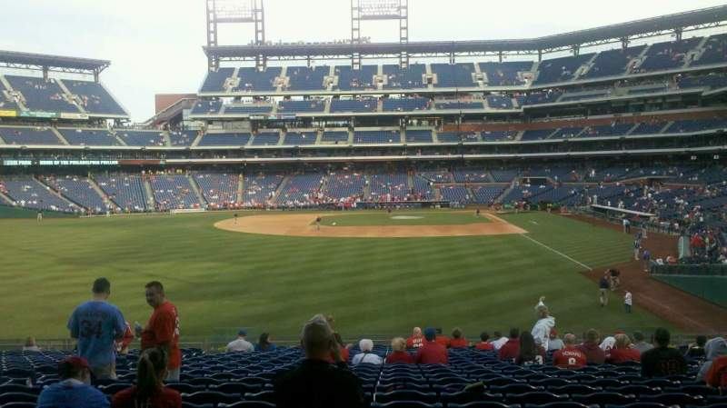 Seating view for Citizens Bank Park Section 142 Row 23 Seat 12