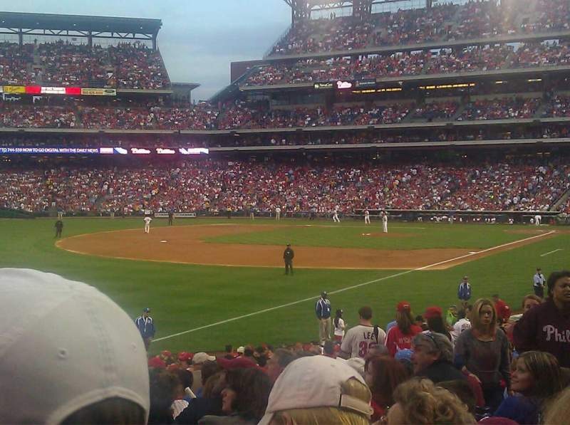 Seating view for Citizens Bank Park Section 138 Row 28 Seat 8