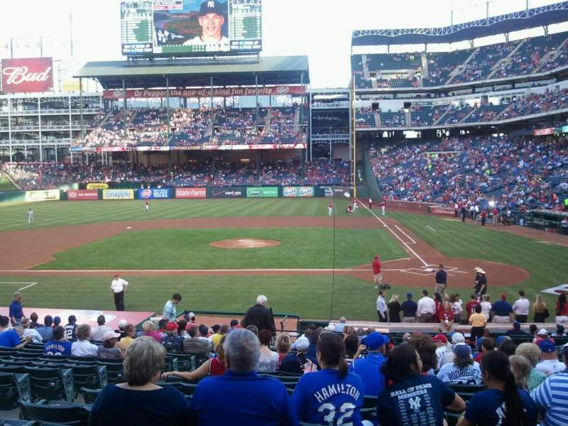 Seating view for Globe Life Park in Arlington Section 21 Row 22 Seat 6