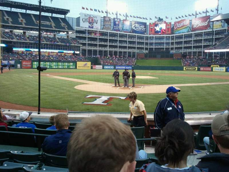 Seating view for Globe Life Park in Arlington Section 25 Row 5 Seat 18