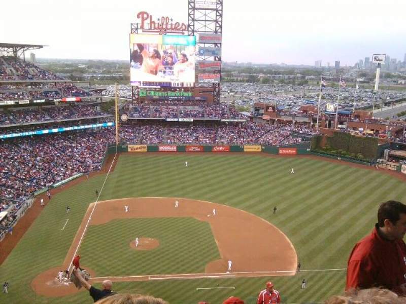 Seating view for Citizens Bank Park Section 416 Row 13 Seat 7