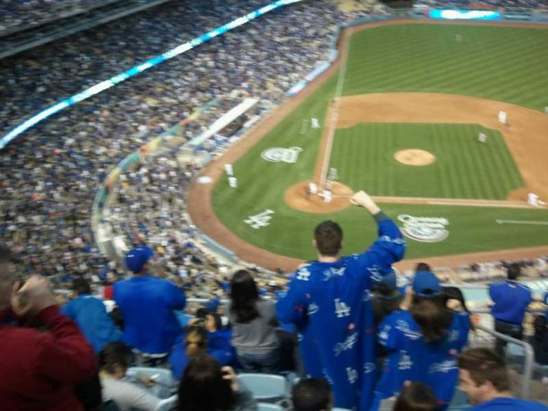 Seating view for Dodger Stadium Section upper deck Row 10 Seat 234