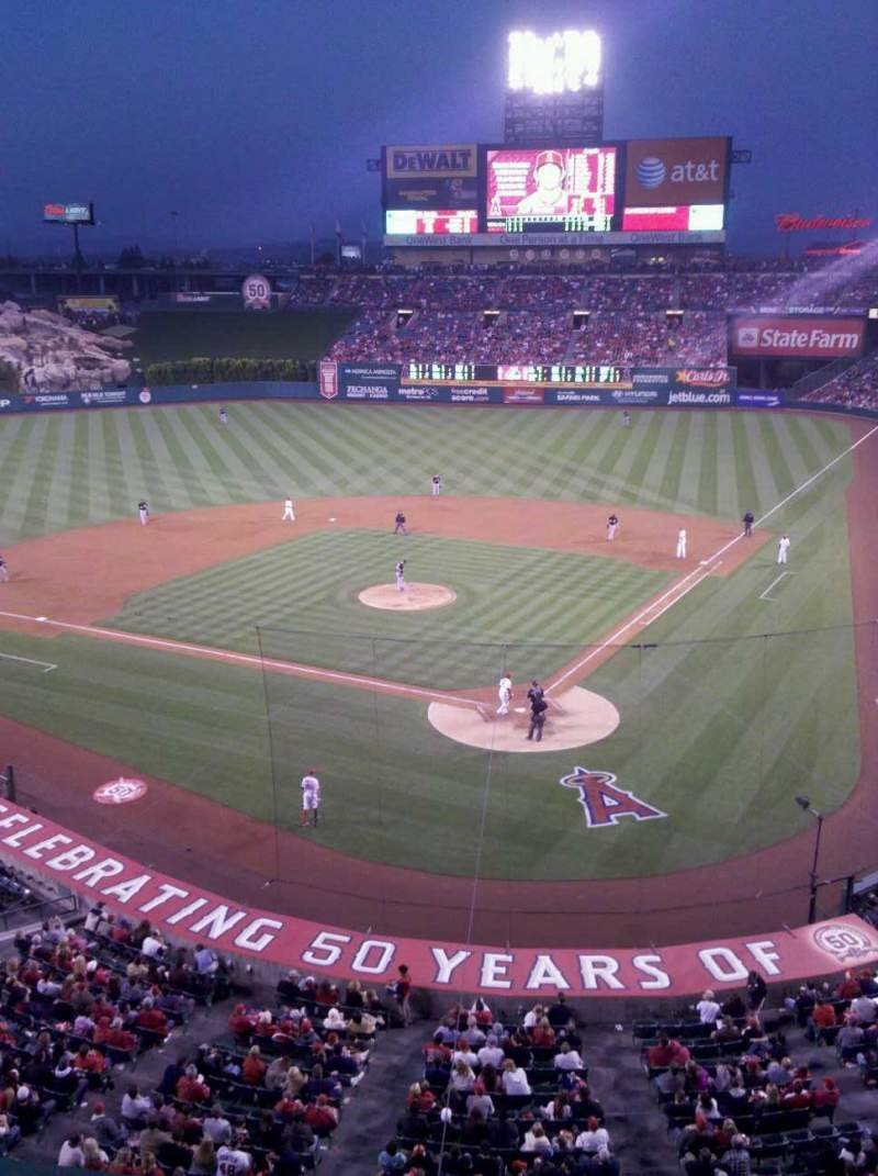 Seating view for Angel Stadium Section suite 45 Row A Seat 1