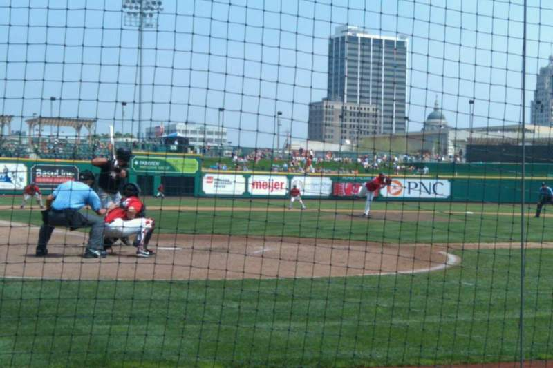Seating view for Parkview Field Section 107 Row C Seat 3
