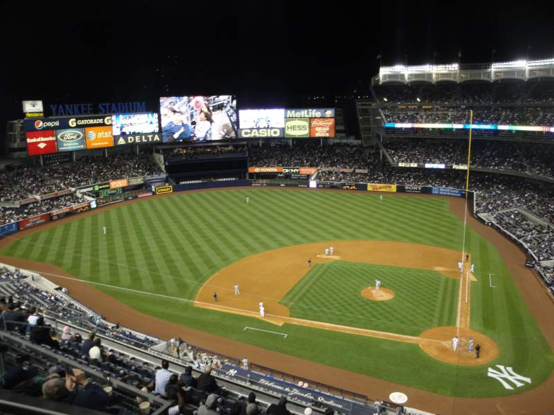 Seating view for Yankee Stadium Section 422 Row 1 Seat 21