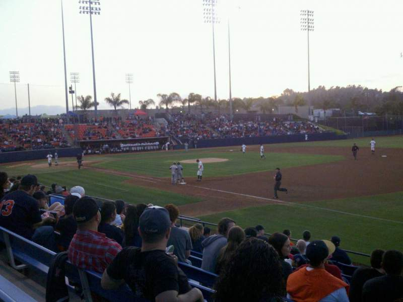 Seating view for Goodwin Field Section A