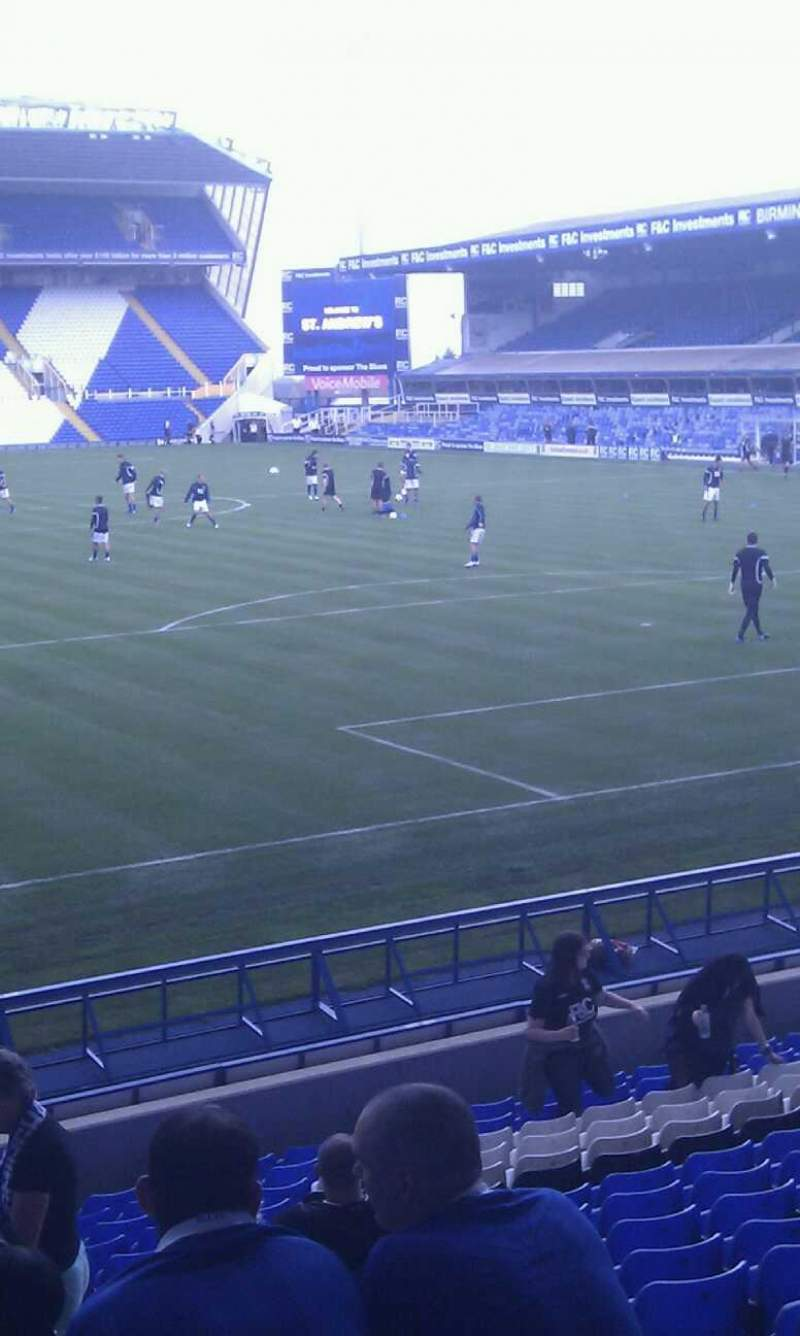 Seating view for St Andrew's Stadium
