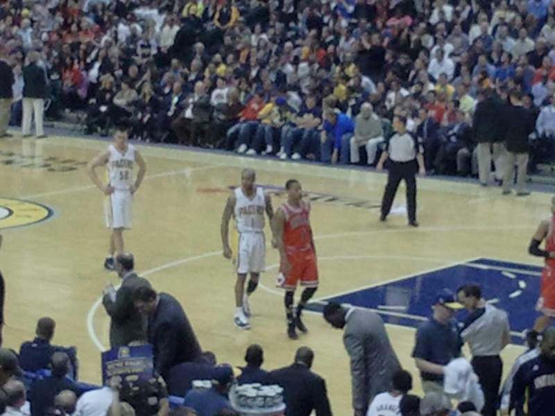 Seating view for Bankers Life Fieldhouse Section 3 Row 21 Seat 5