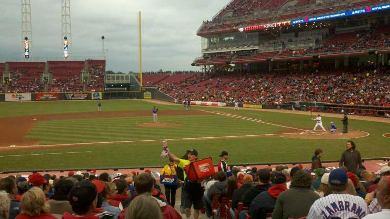Great American Ball Park, section: 116, row: Y, seat: 1