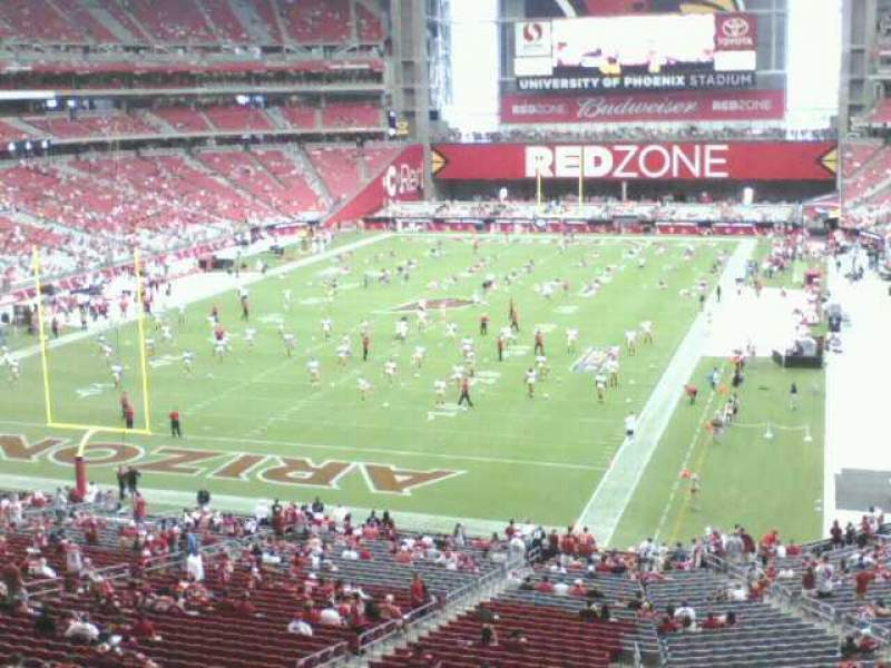 Seating view for University of Phoenix Stadium Section 201 Row 2 Seat 17