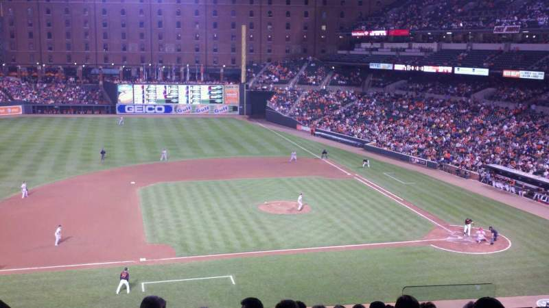 Seating view for Oriole Park at Camden Yards Section 250 Row 9 Seat 5