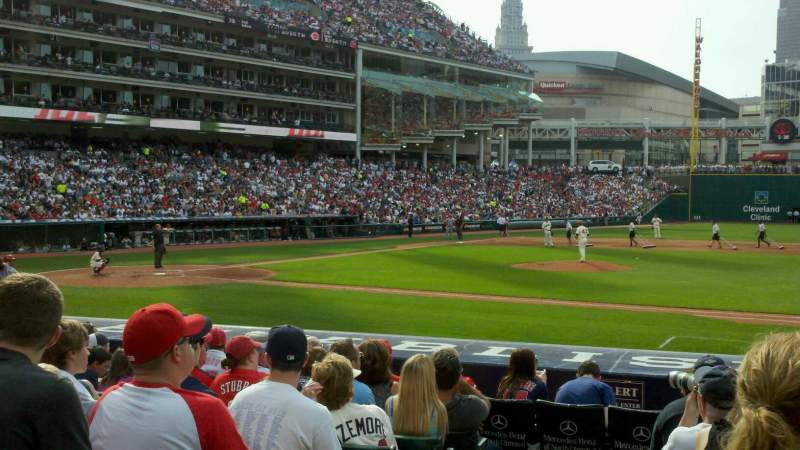 progressive field section 142 row p home of cleveland. Black Bedroom Furniture Sets. Home Design Ideas