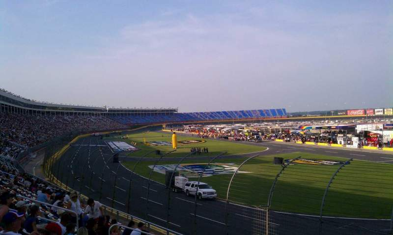 Seating view for Charlotte Motor Speedway Section Ford F Row 16 Seat 16