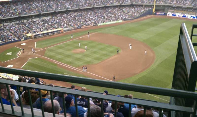 Seating view for Miller park Section 411 Row 9 Seat 15