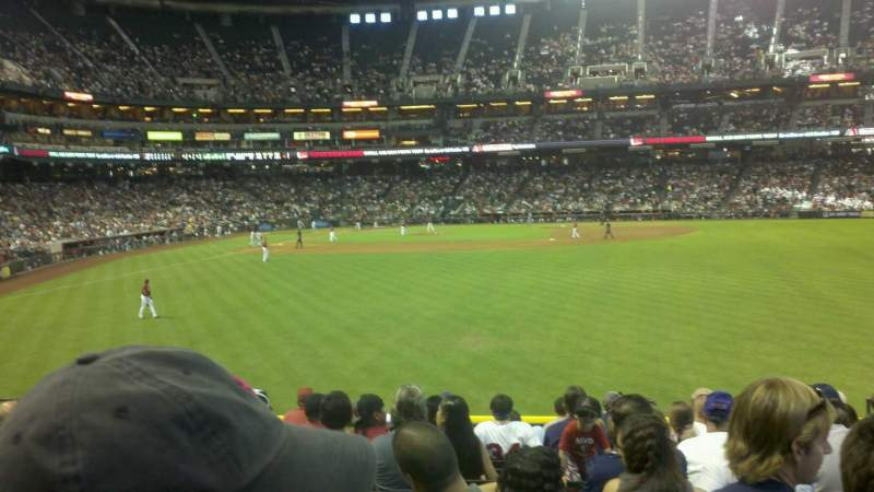 Seating view for Chase Field Section 103 Row 27 Seat 8