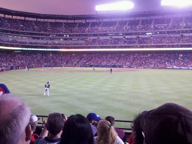 Seating view for Globe Life Park in Arlington Section 47 Row 7 Seat 7