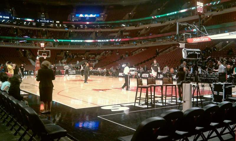Seating view for United Center Section 100