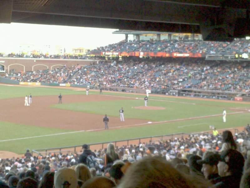 Seating view for Oracle Park Section 128 Row 41 Seat 11