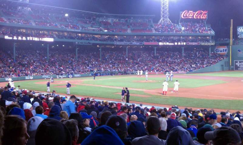 Seating view for Fenway Park Section Loge Box 105 Row JJ Seat 4
