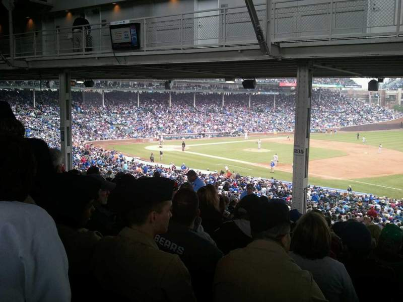 Seating view for Wrigley Field Section 235 Row 21 Seat 11